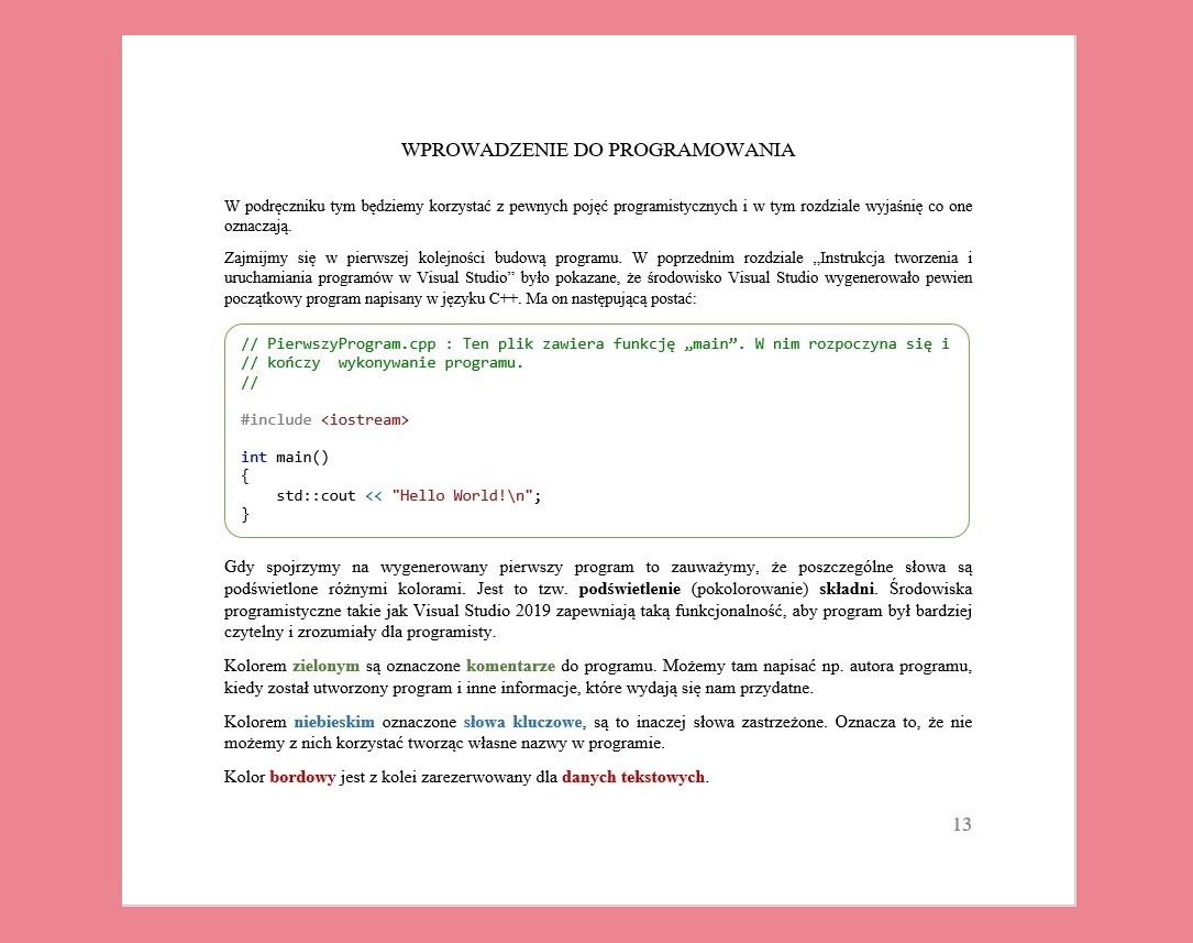 Książka C++ Programowanie dla dzieci Wprowadzenie do programowania